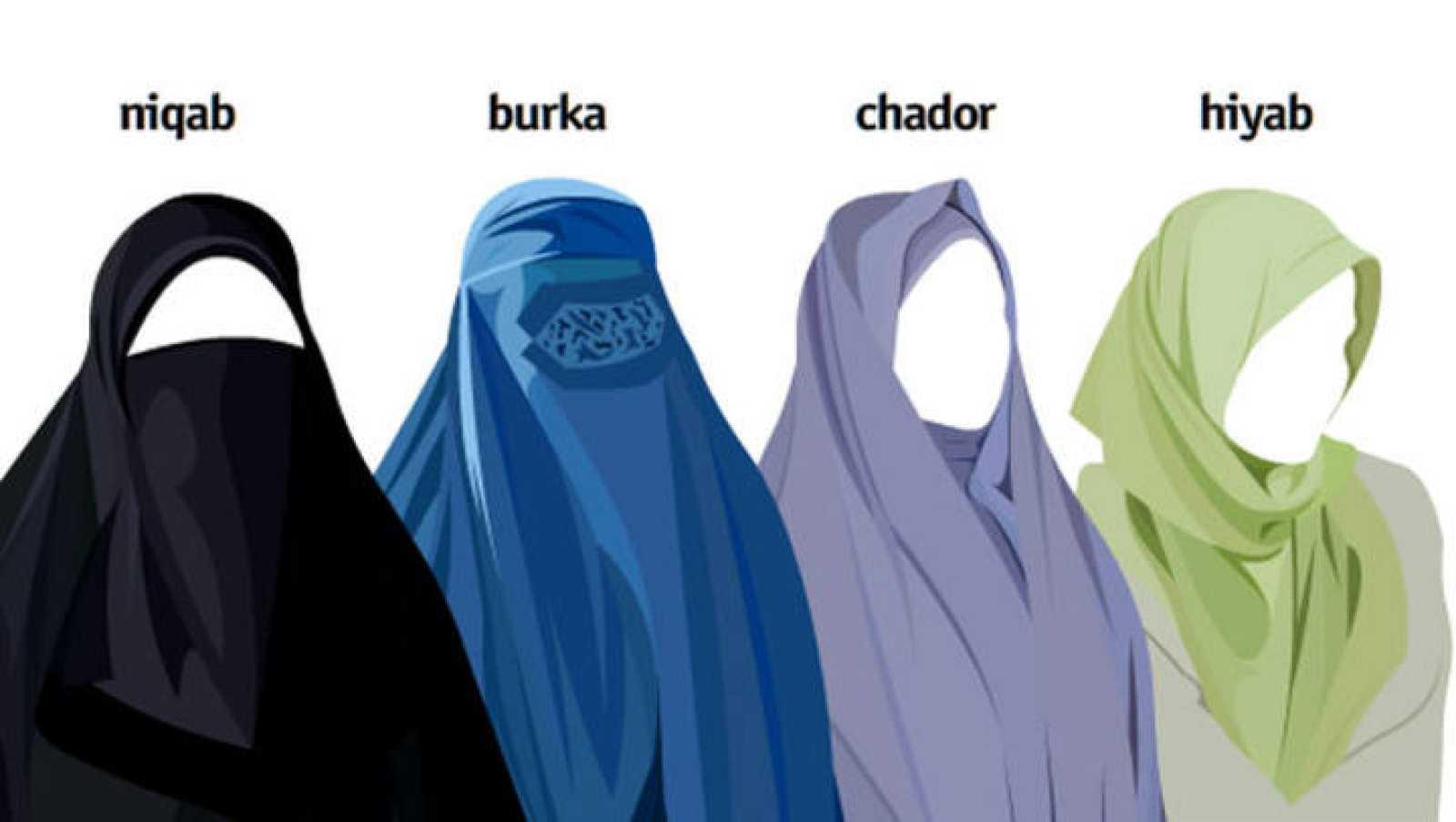 Prendas tradicionales de la mujer musulmana.