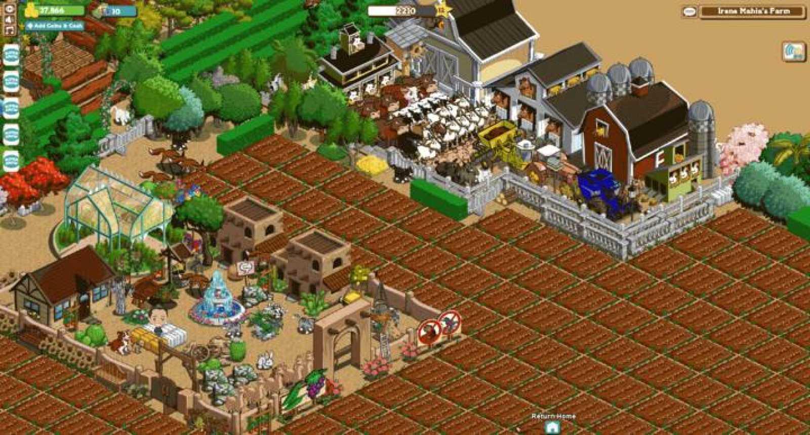 En la granja puedes cuidar del ganado virtual e ir incrementándolo a medida que avanzas en el juego
