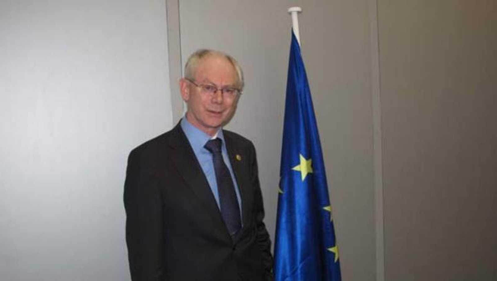 El presidente del Consejo Europeo, en su despacho de la cumbre UE-América Latina.