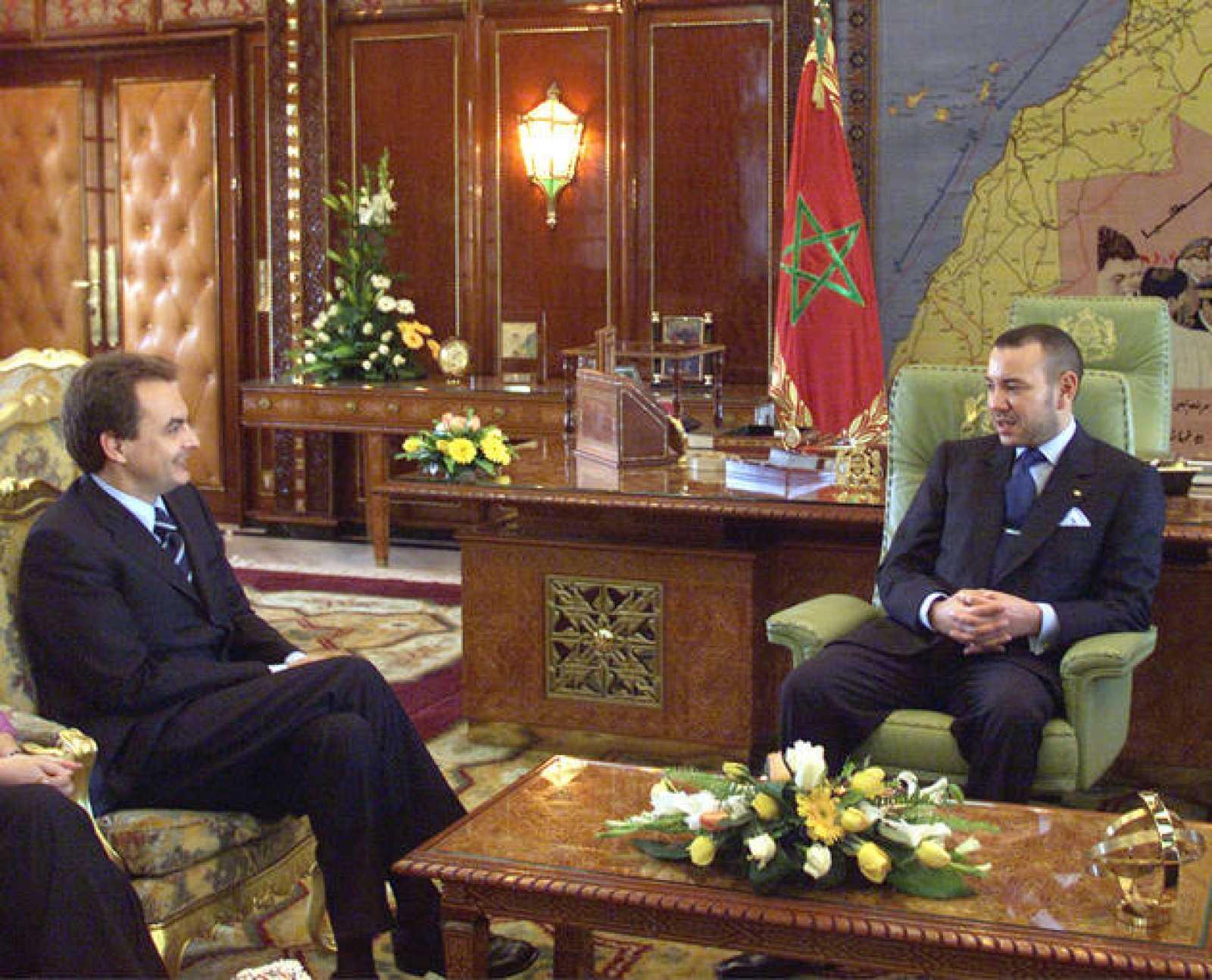 Rodríguez Zapatero y Mohammed VI, en su encuentro de 2001.