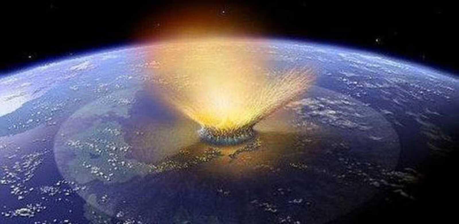 Reconstrucción del impacto de un meteorito sobre la Tierra