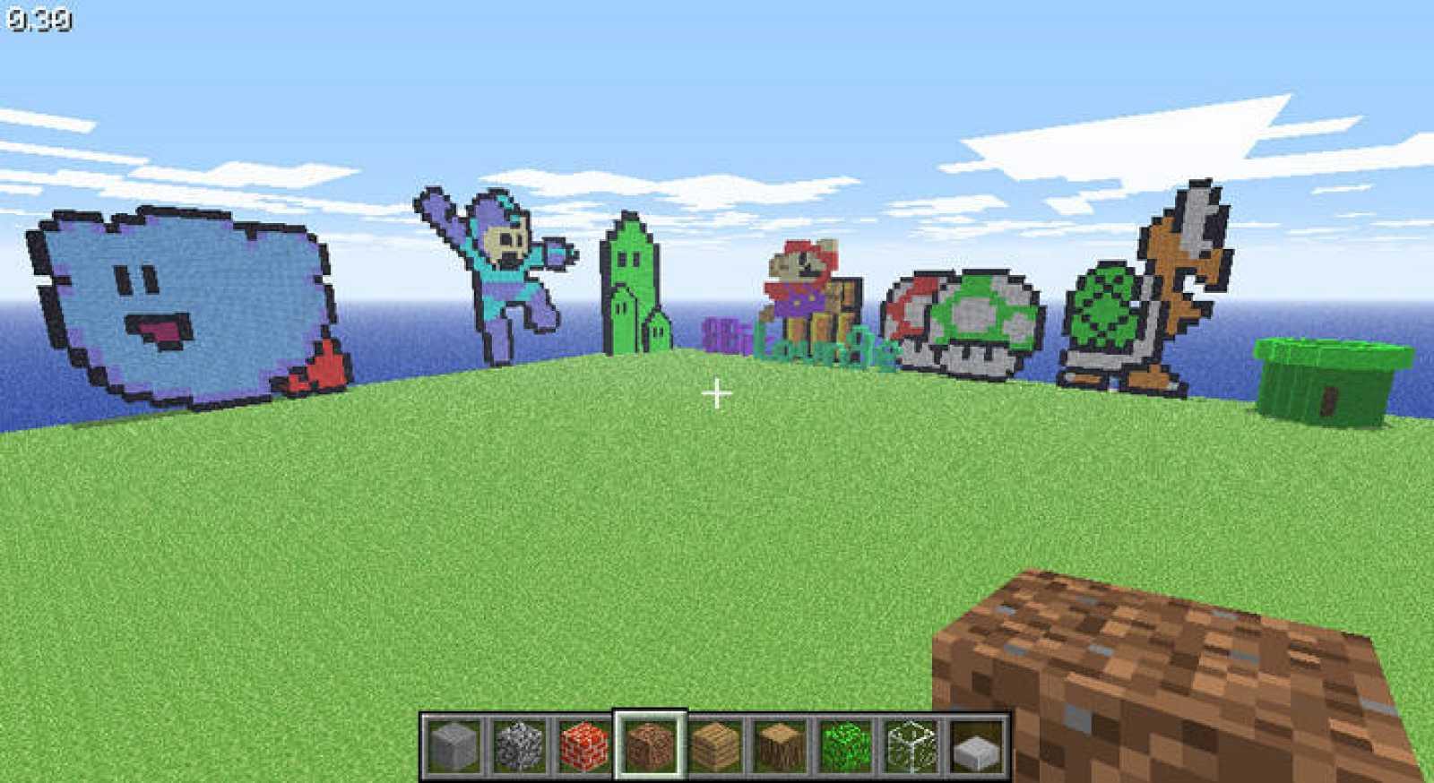 Minecraft no es un juego de marcianitos: no hay princesas que rescatar, ni enemigos a los que disparar, ni carreras en las que competir. Es un mundo de píxeles, con un aspecto retro