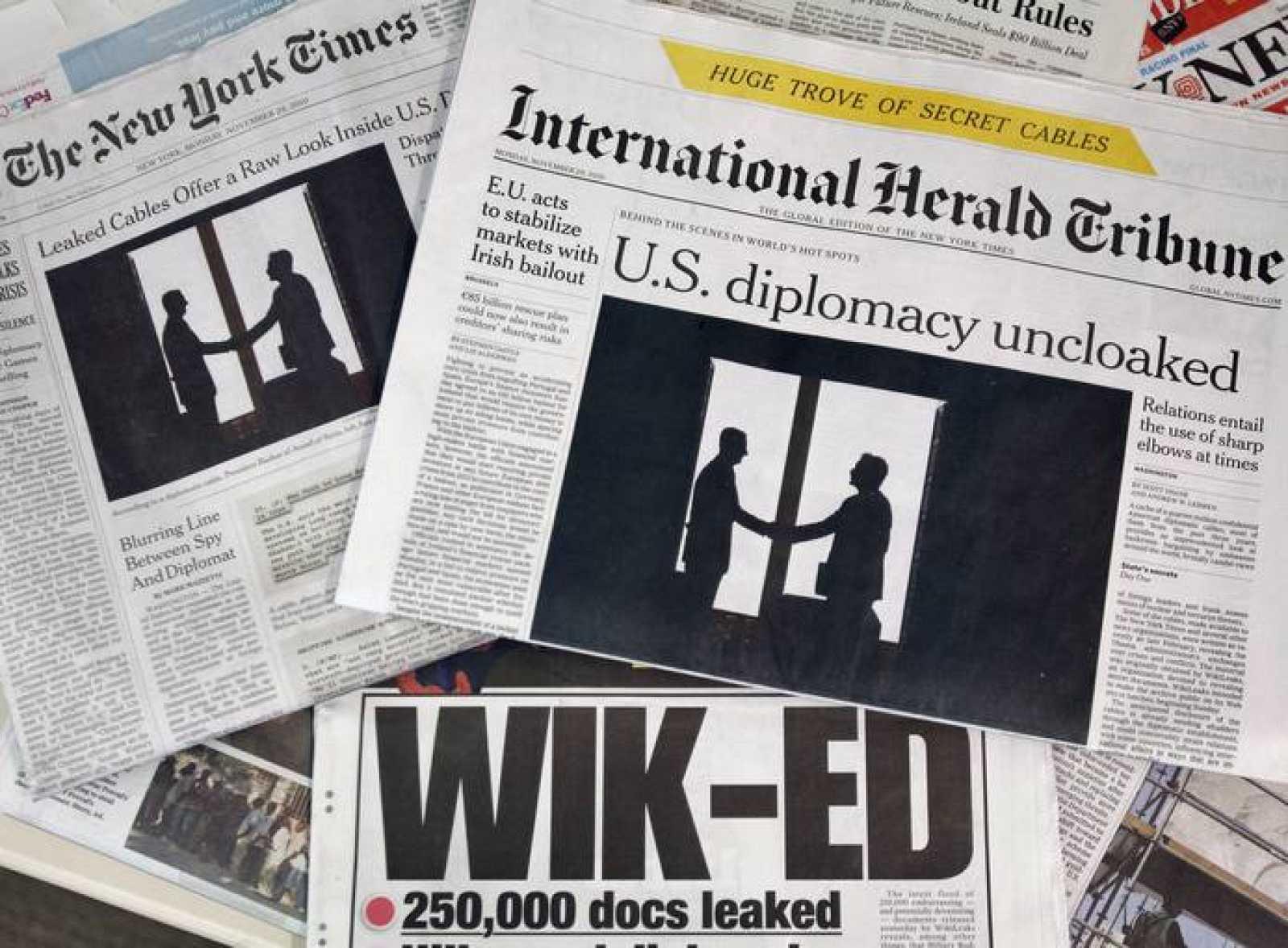 Portadas de los periódicos tras las nuevas filtraciones de Wikileaks