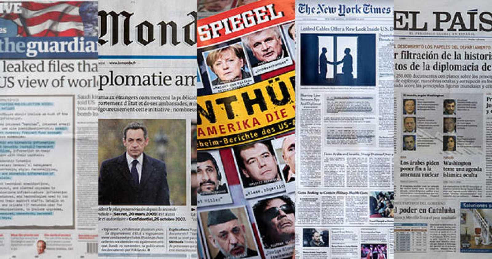Los cinco apostóles del Mesías Assange.