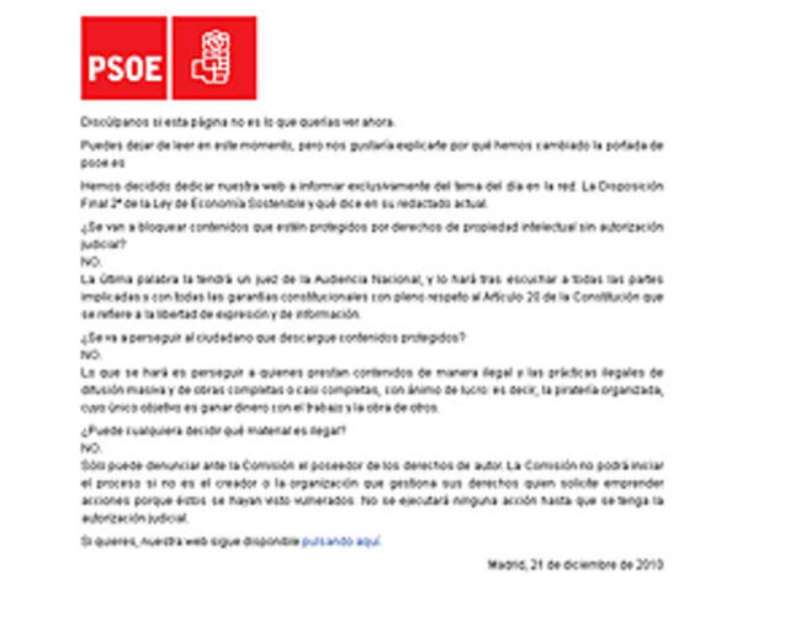 Web del PSOE