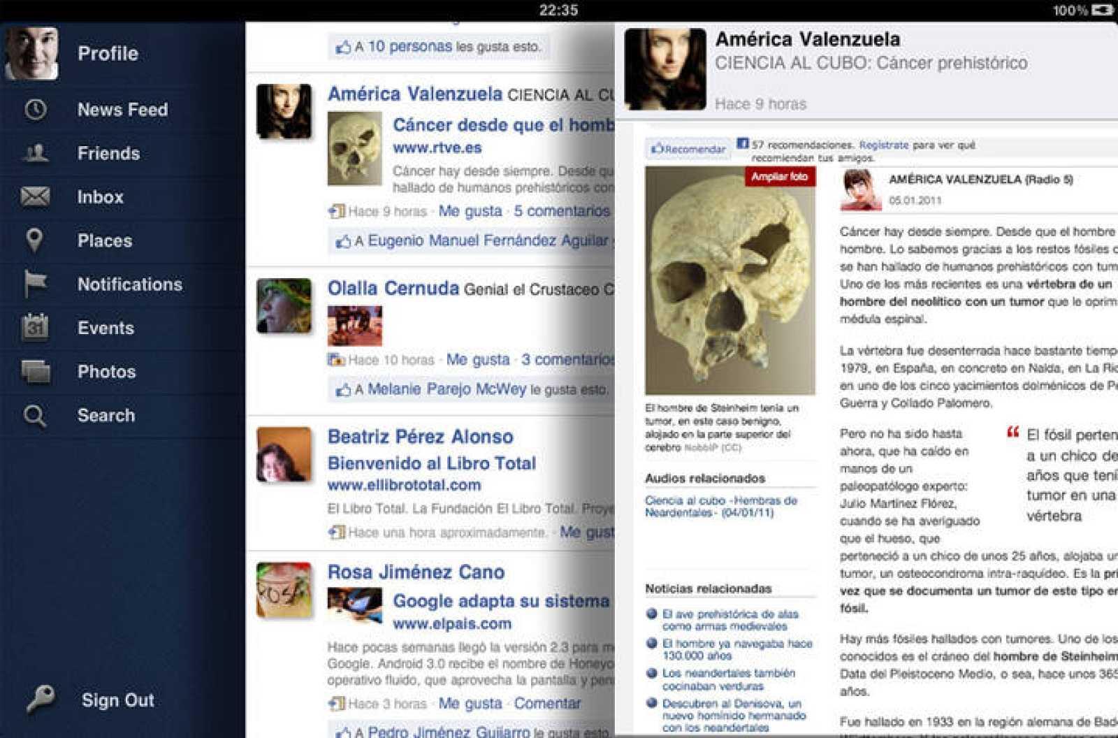 Facepad, otra forma de vivir el día a día de Facebook en los iPad de Apple