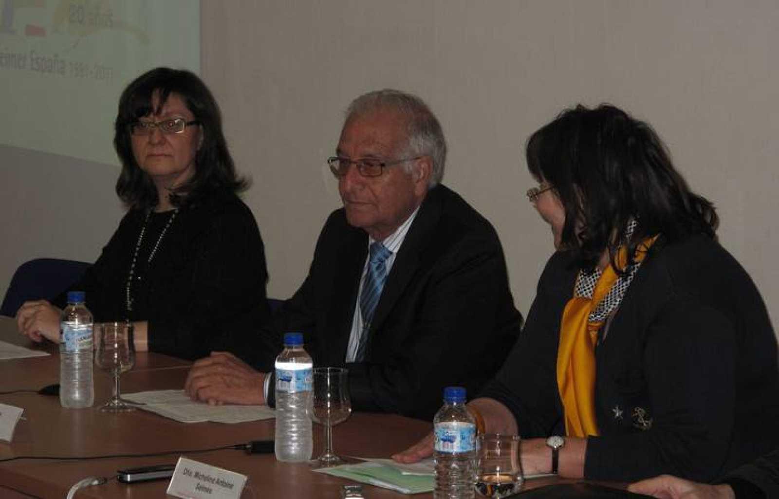 Carlos Martín, durante el encuentro de la Fundación Alzheimer España '¿A dónde va la investigación en la enfermedad?'