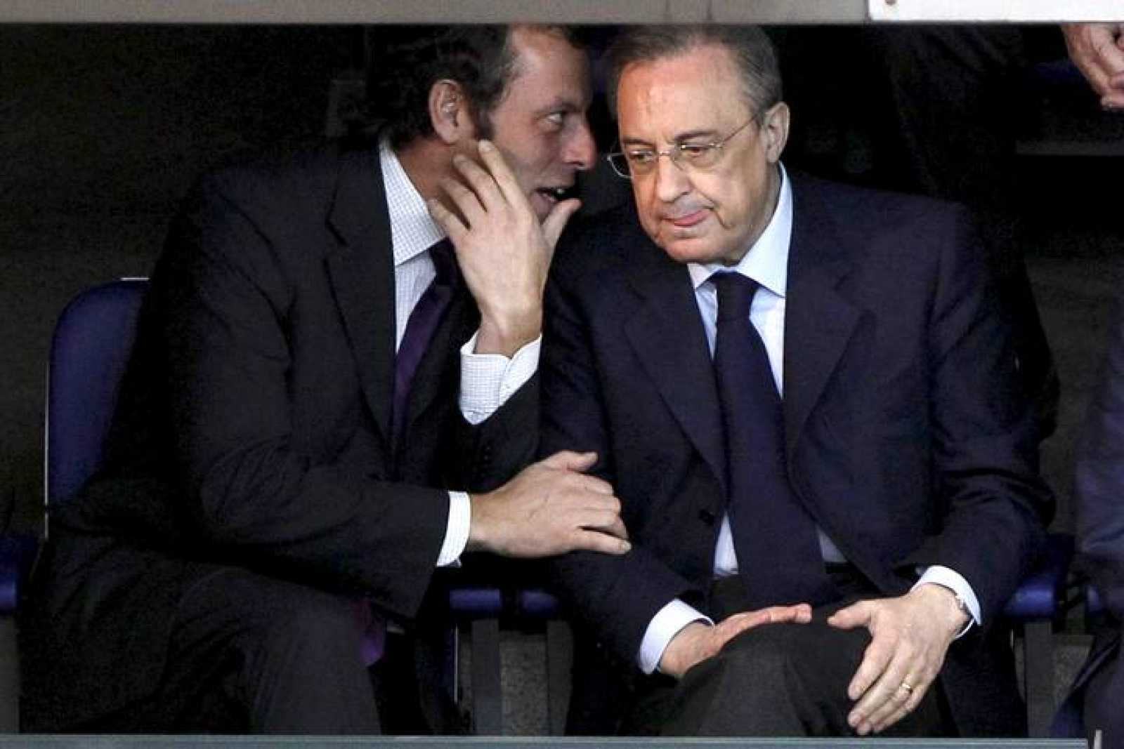 Los presidentes del Barça y el Madrid, Sandro Rosell y Florentino Pérez