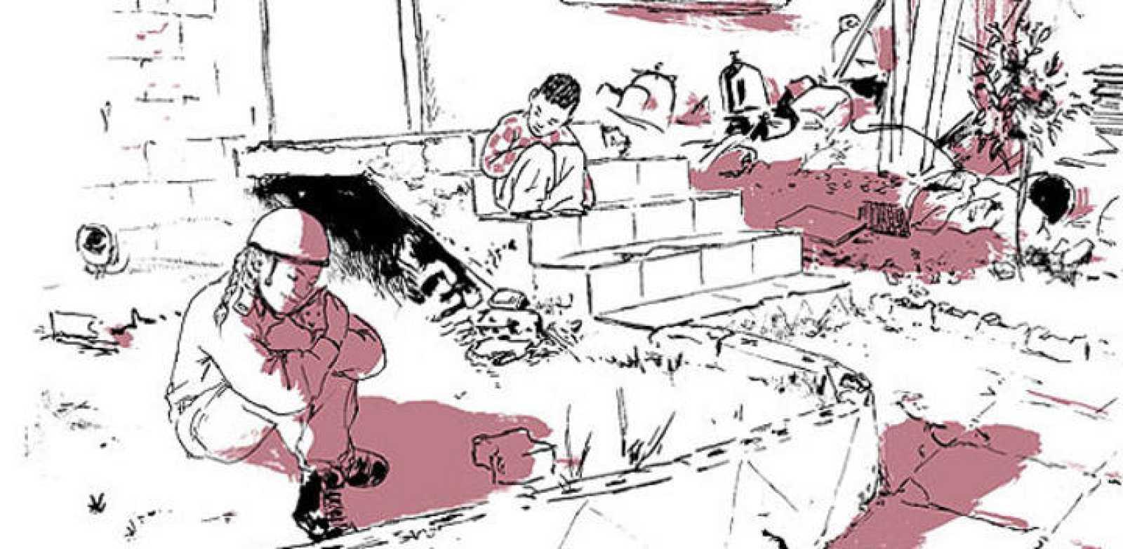 Viñeta de 'Granja 54', de Galit y Gilad Seliktar