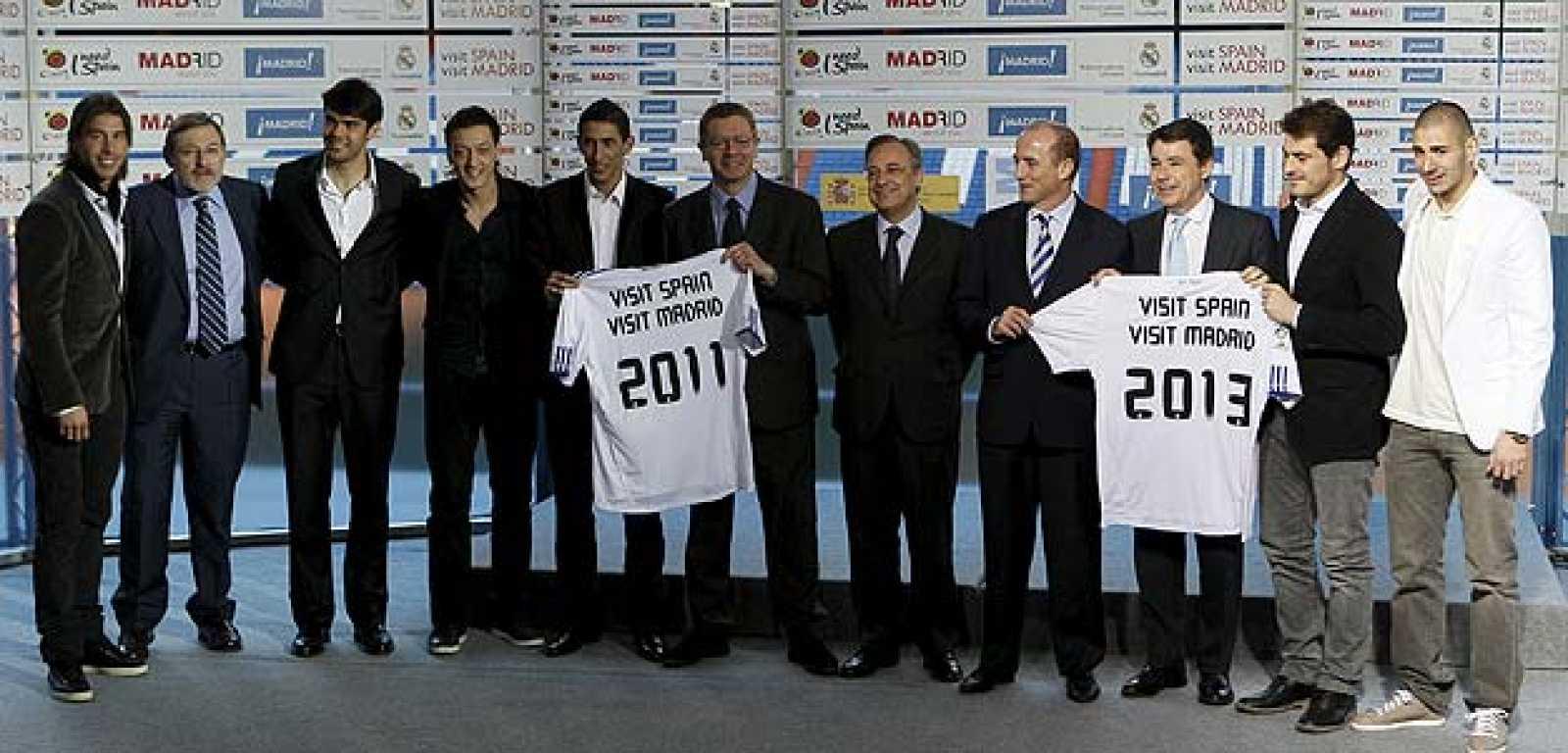 El Real Madrid promociona la Marca España.