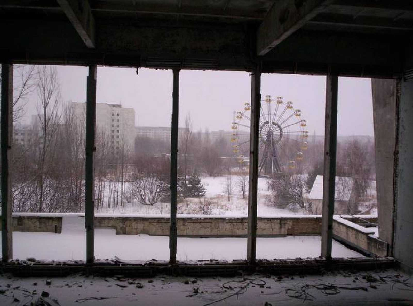 La noria abandonada de Pripyat, un símbolo del accidente de Chernóbil
