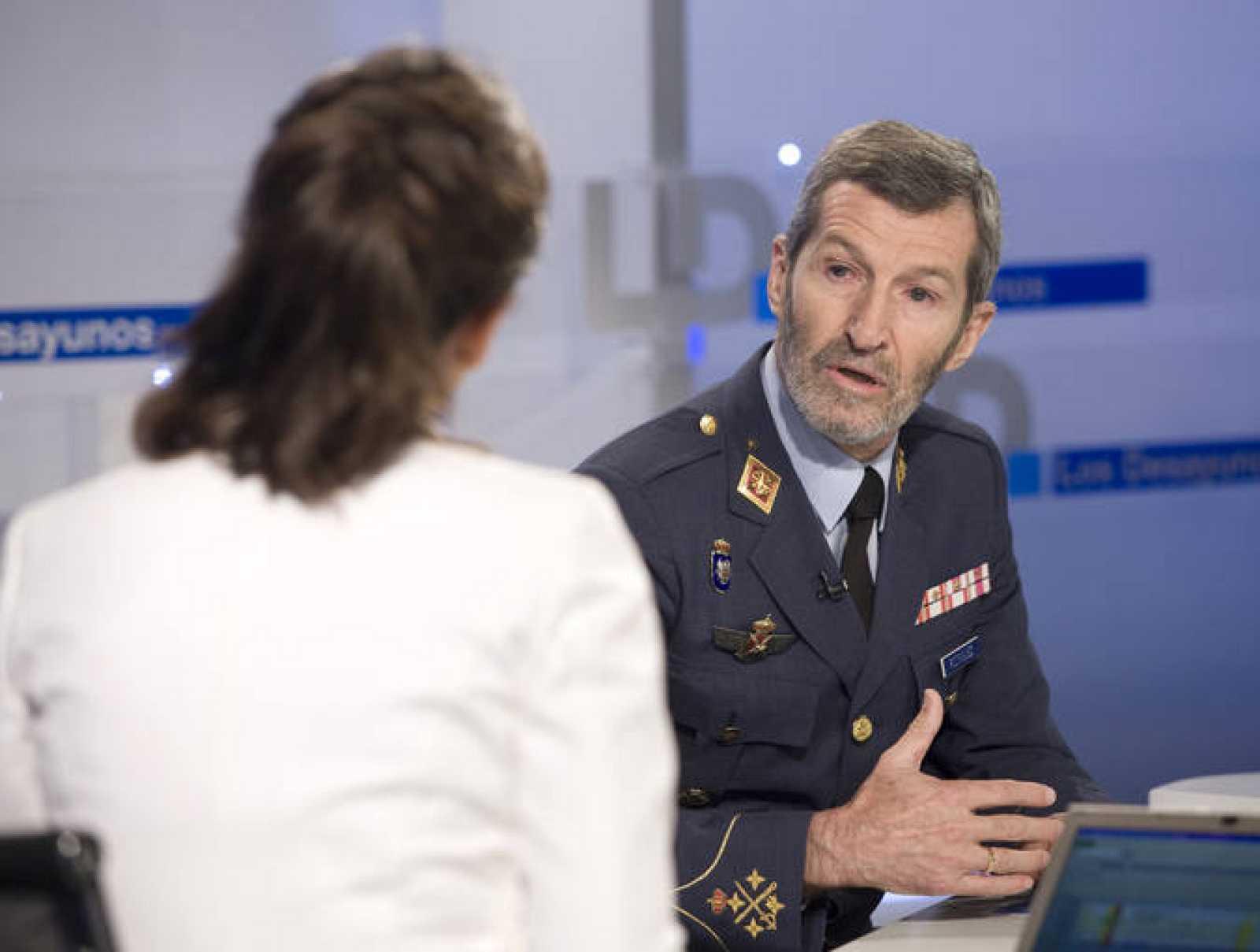 El JEMAD, durante un momento de la entrevista en Los Desayunos de TVE