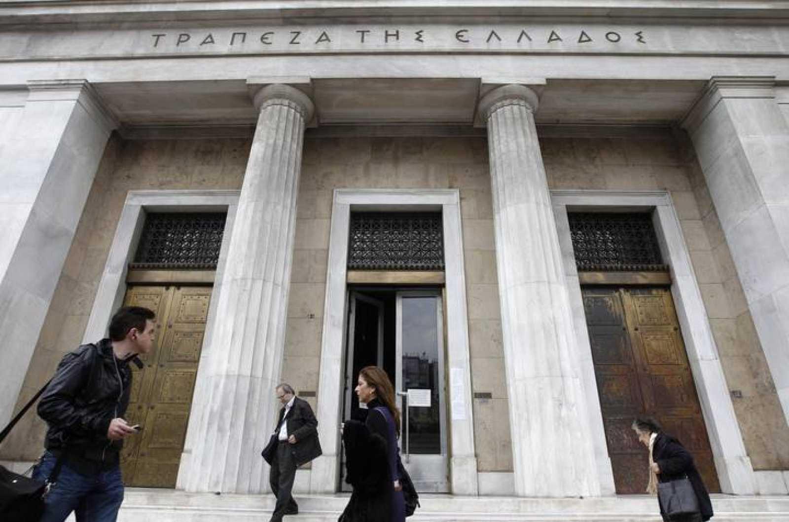 Fotografía de la sede del Banco Central de Grecia en Atenas