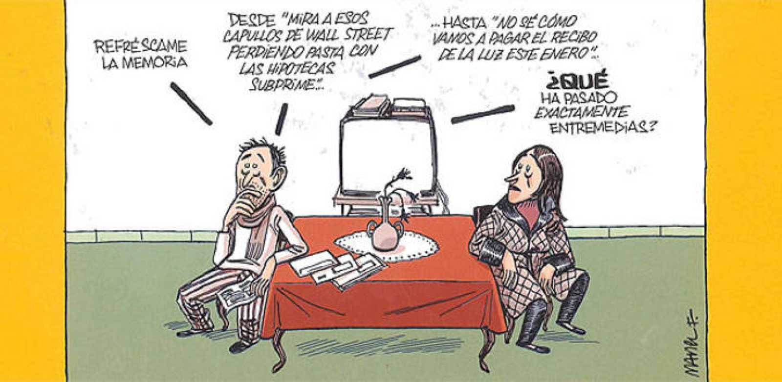 Viñeta de 'La crisis está siendo un éxito', de Manel Fontdevila