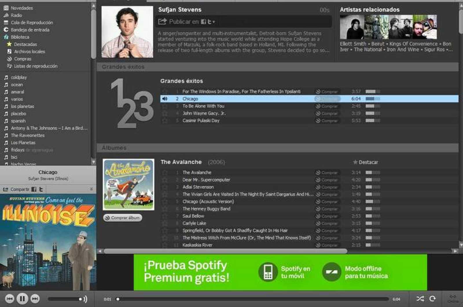 Las compañías de servicios de música por suscripción como Spotify son las que más crecen respecto al primer semestre de 2011
