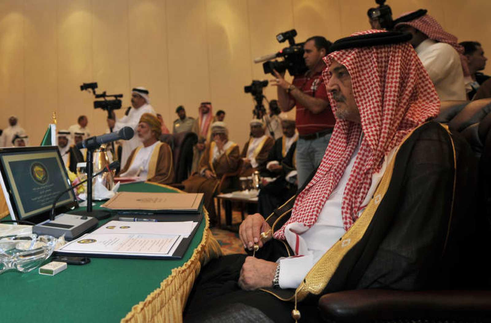 El ministro de Exteriores de Arabia Saudí, príncipe Saud al Faisal, en la reunión del Consejo de Cooperación del Golfo el 14 de junio