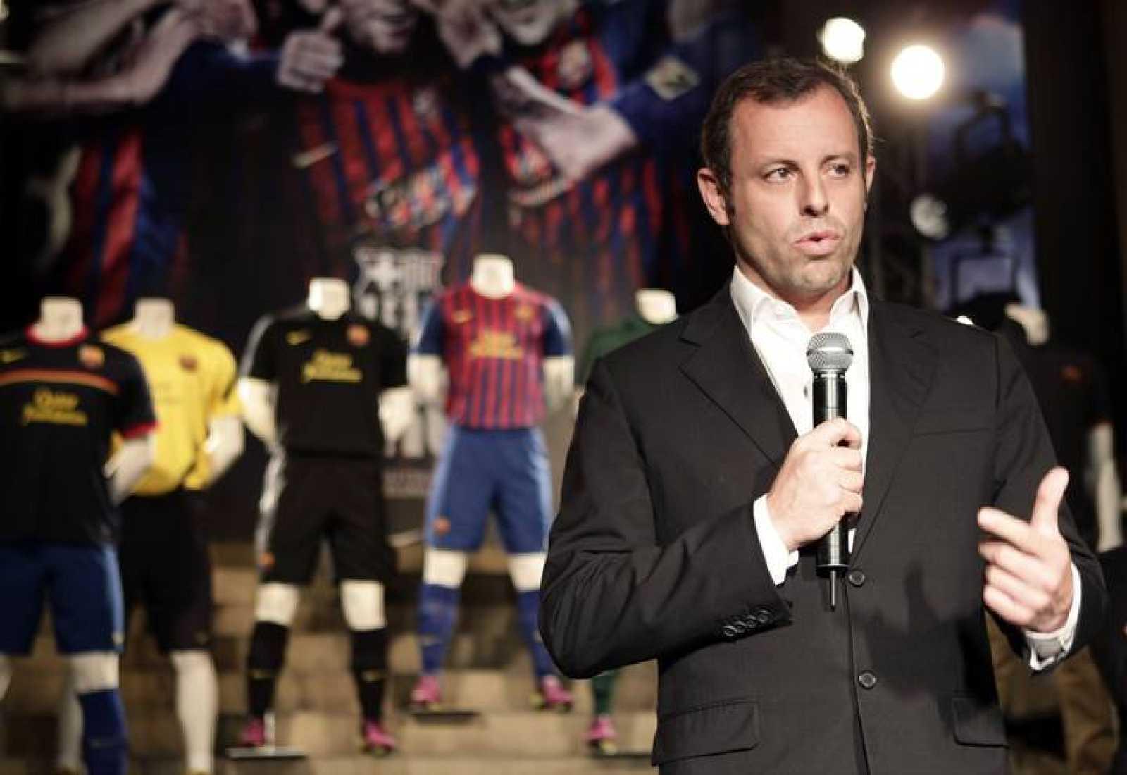 El presidente del FC Barcelona, Sandro Rosell, en un acto reciente