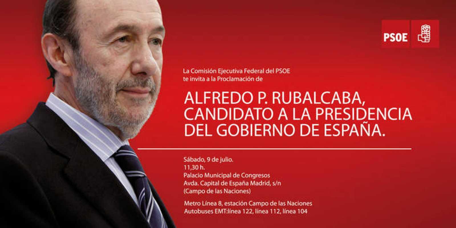 Alfredo P. Rubalcaba, candidato a la presidencia del Gobierno de España