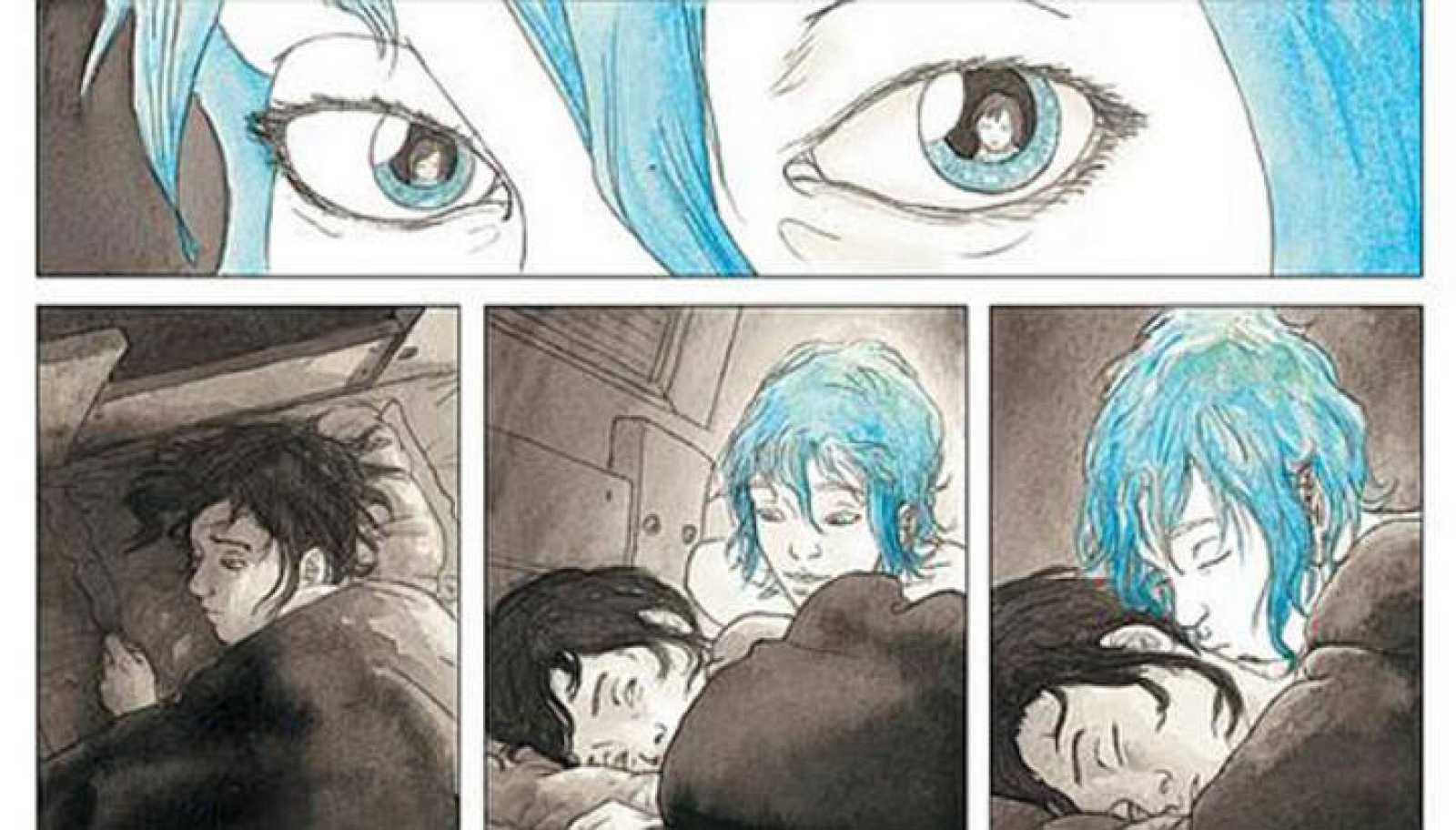 Viñetas de 'El azul es un color cálido', de Julie Maroh