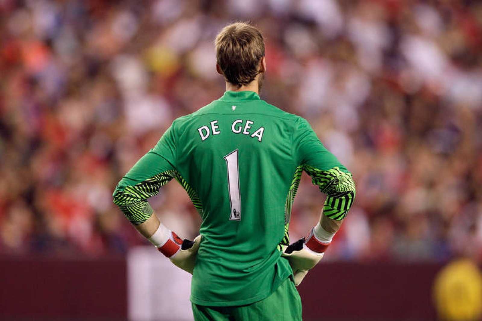 David De Gea, en el partido contra el Barcelona.