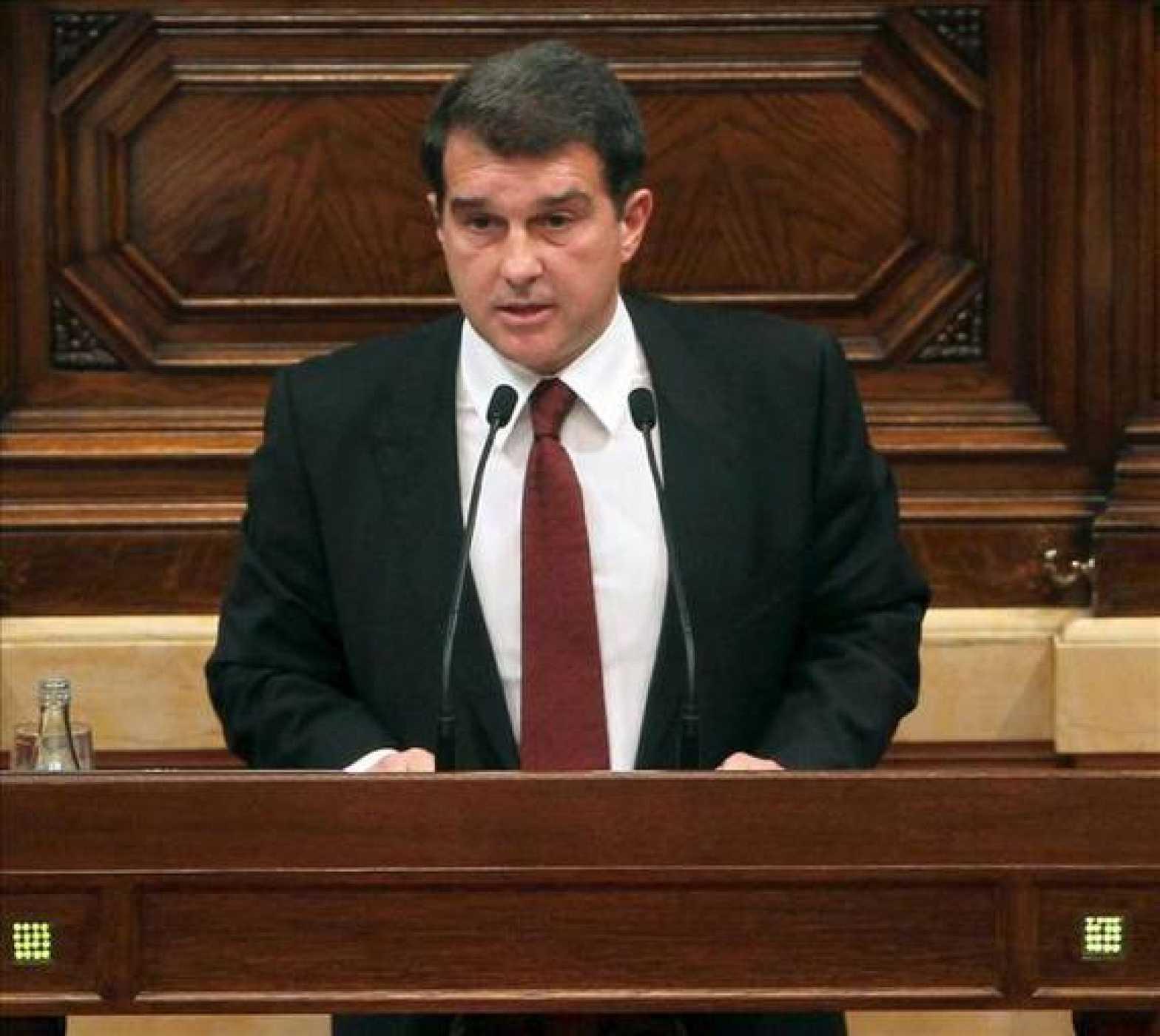 El expresidente del F.C. Barcelona, Joan Laporta, ahora es diputado catalán
