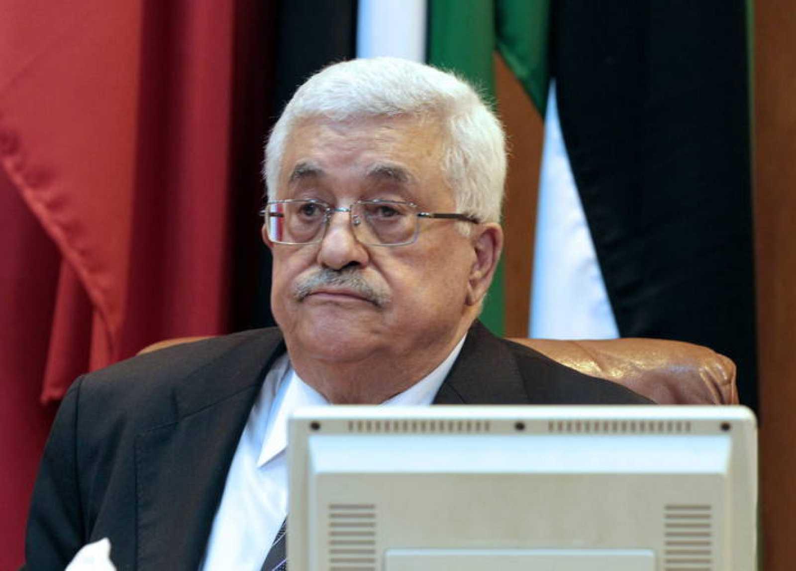 El presidente palestino, Mahmud Abás, en la reunión de la Liga Árabe en El Cairo