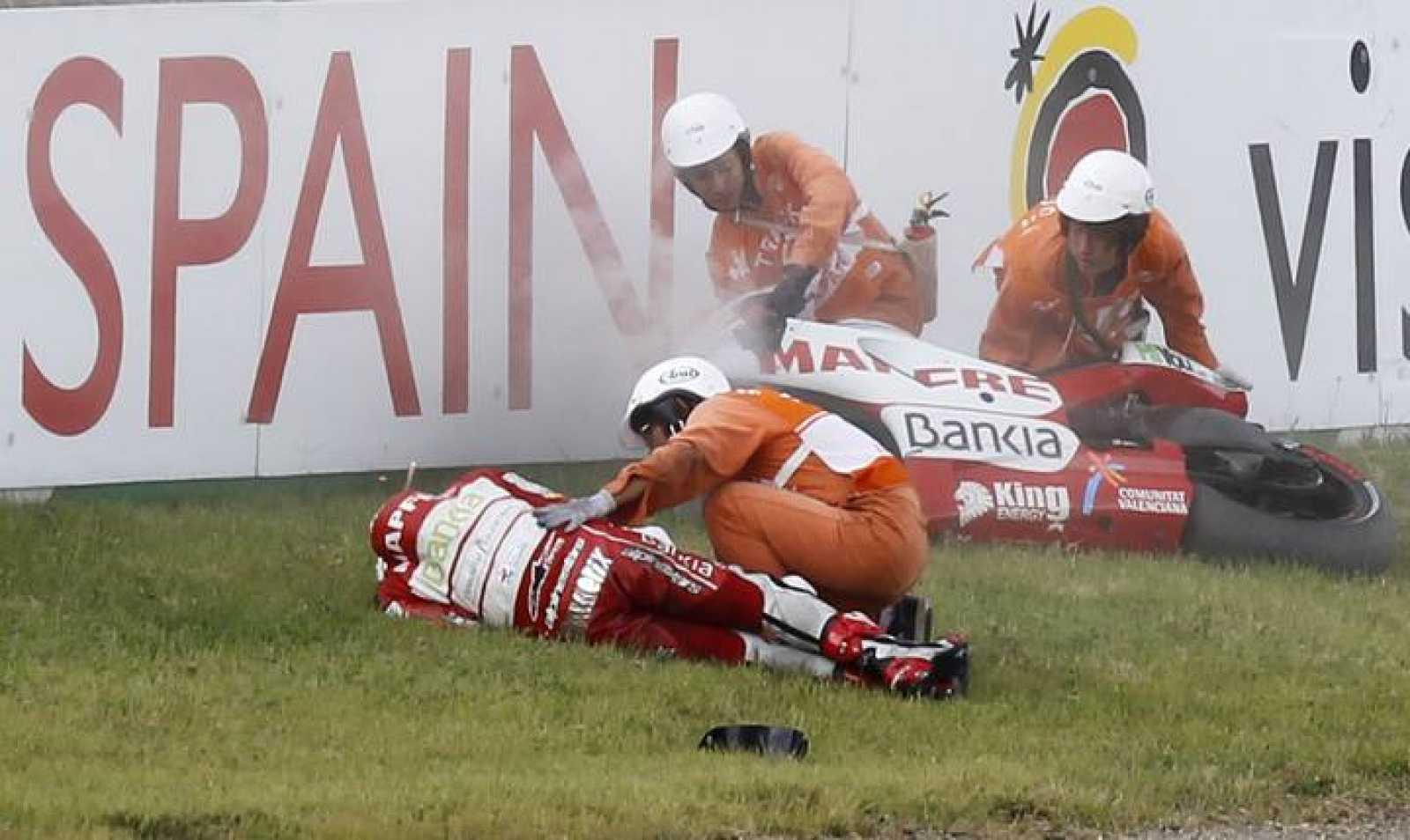 El valenciano evolcuiona bien de sus lesiones tras la caída en Motegi.