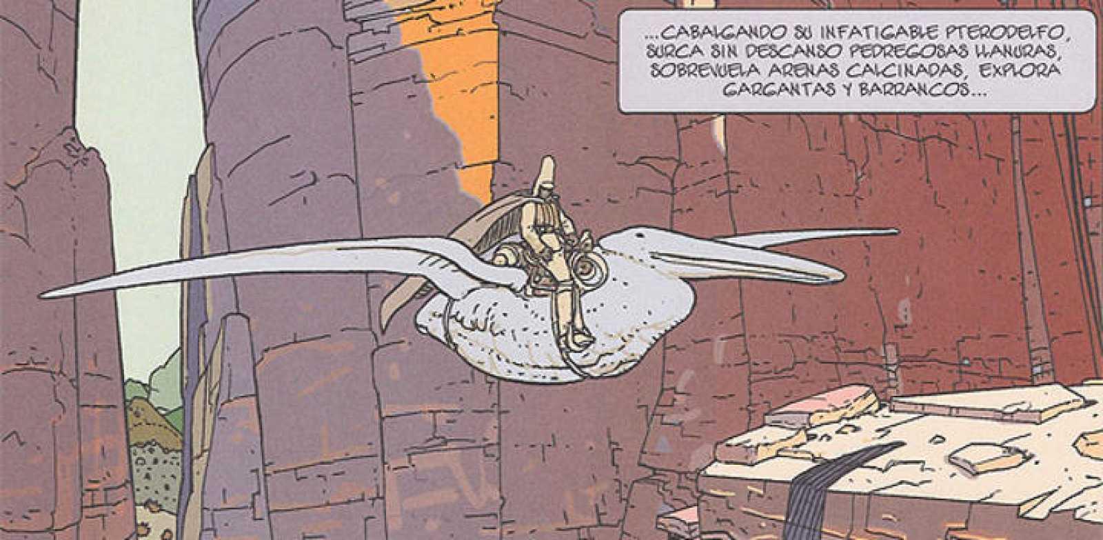 Viñeta de 'Arzak el vigilante', de Moebius