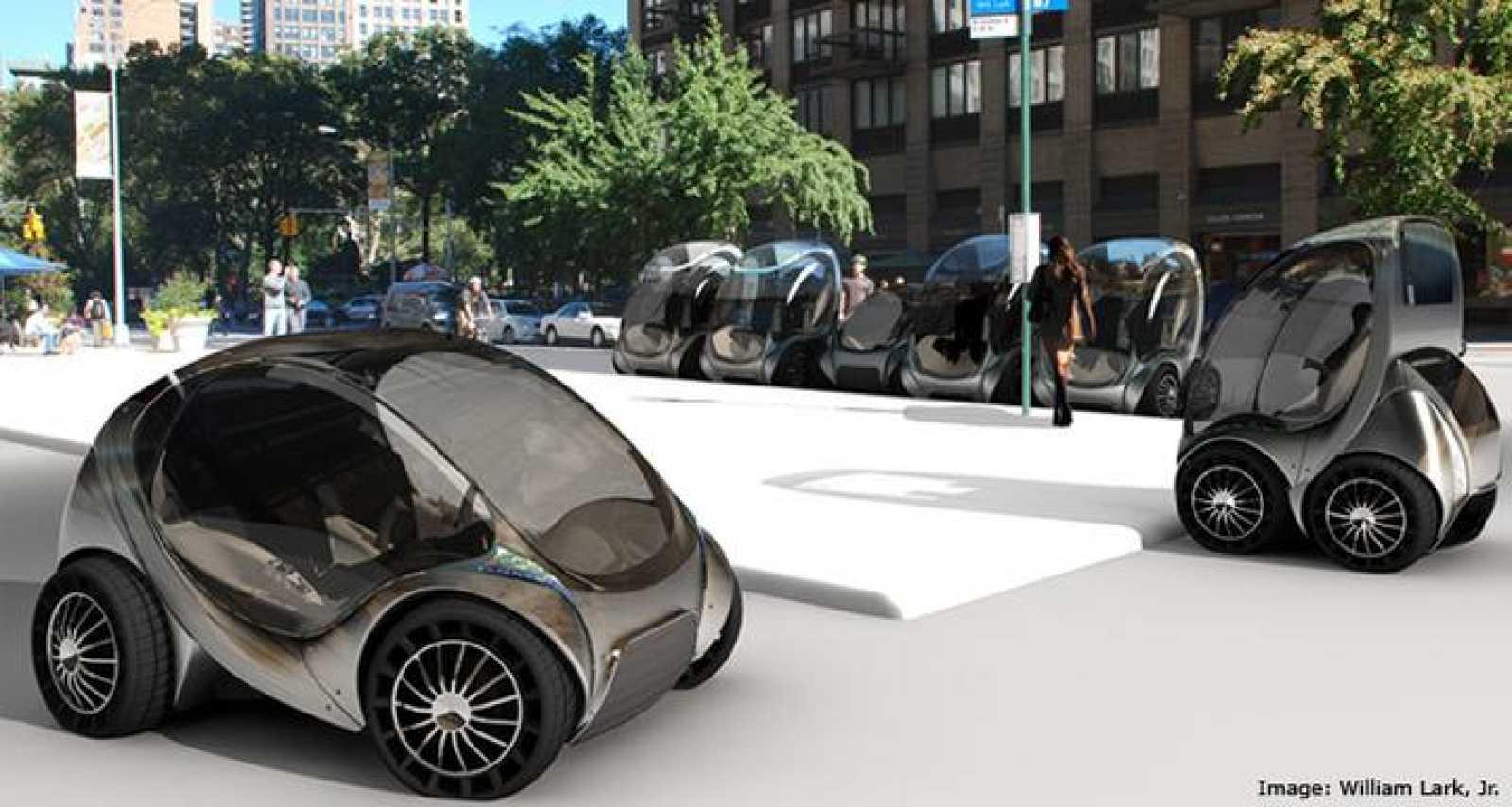 Los coches eléctricos son plegables y ocupan tres veces menos que un utilitario actual