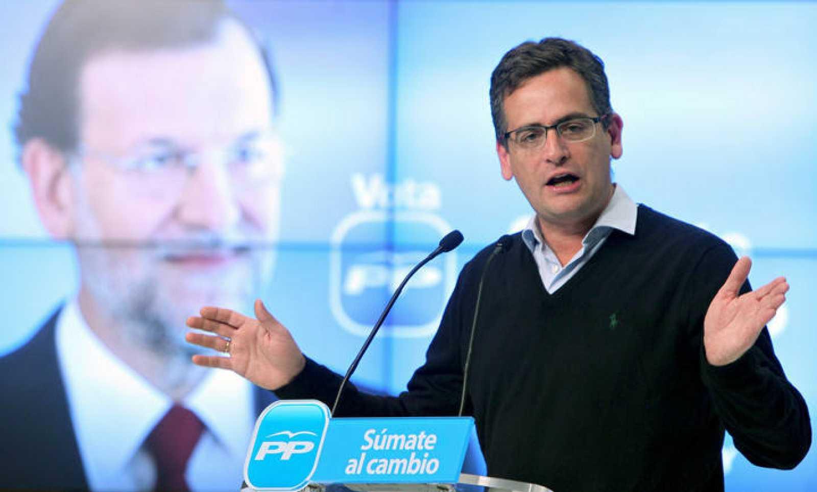 El presidente del PP vasco, Antonio Basagoiti, durante un mitin en el Kursaal en San Sebastián.