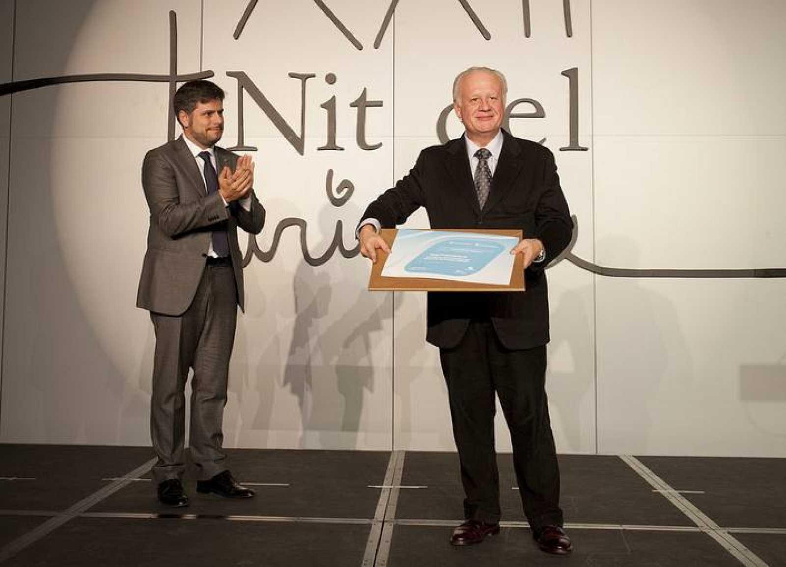 Juan Echanove recoge el premio Jordi Cartanyà que convoca cada año el Patronat de Turisme de la Diputació de Tarragona