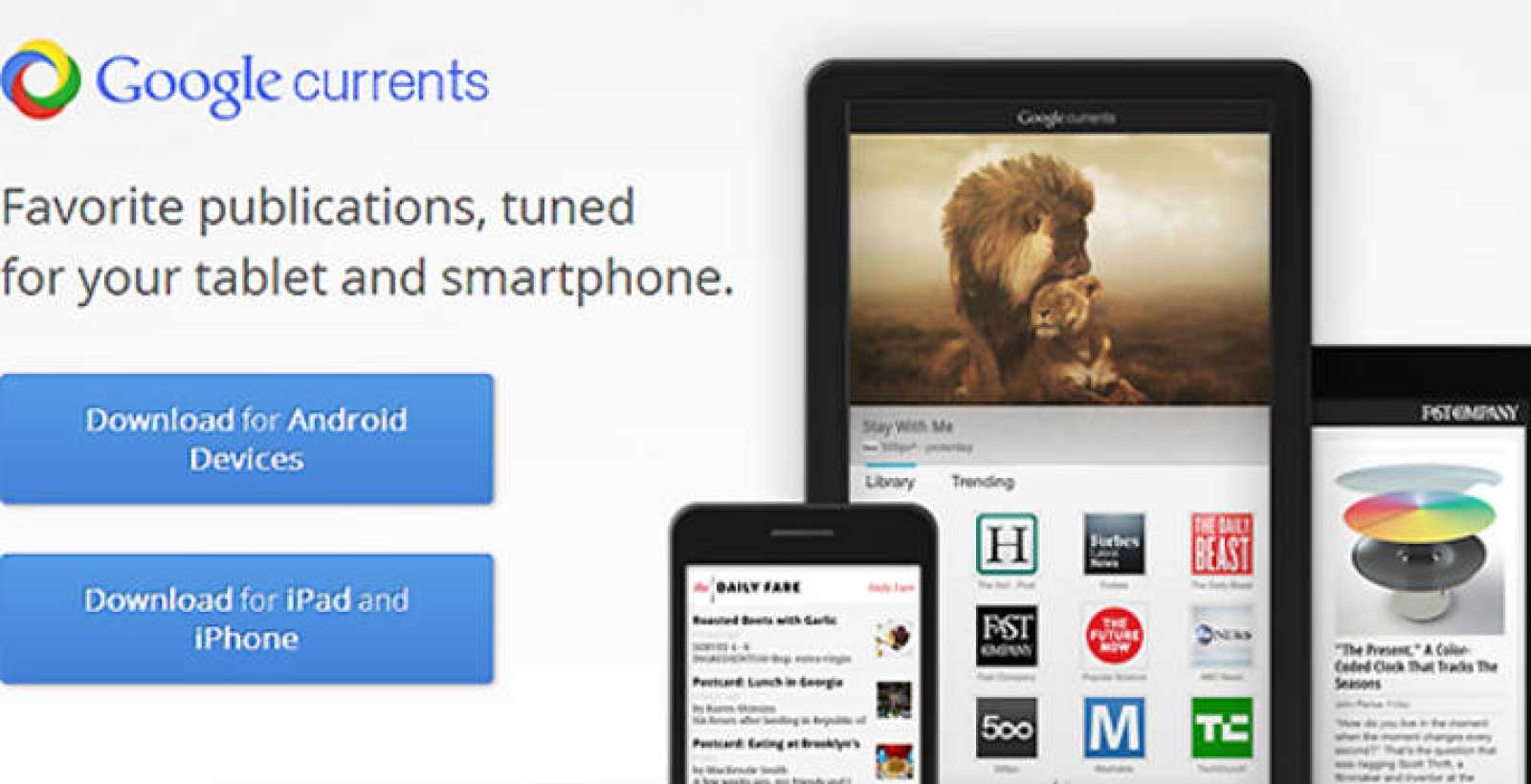 Google Currents, la nueva aplicación del buscador para iOS y Android