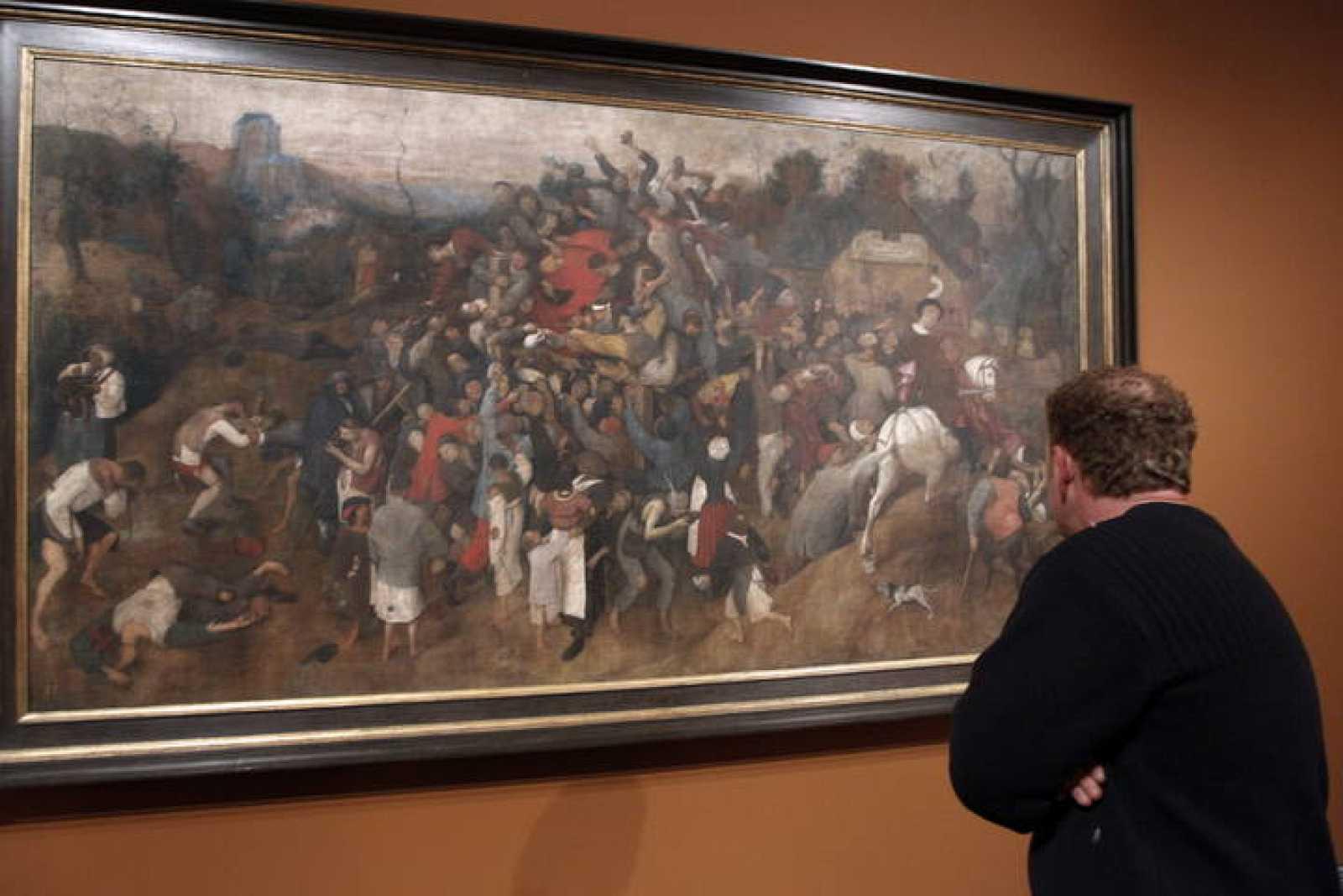 """El Prado muestra restaurado """"El vino de la fiesta de San Martín"""", de Pieter Bruegel el Viejo"""