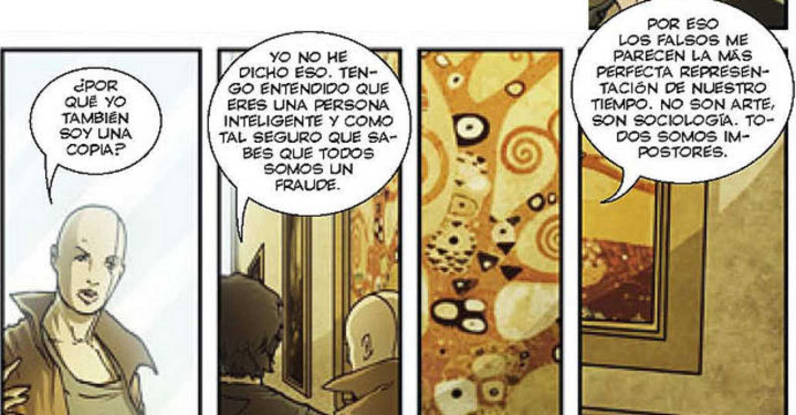 Viñetas del cómic 'Lágrimas en la lluvia', de Rosa Montero, Damián Campanario y Alessandro Valdrighi
