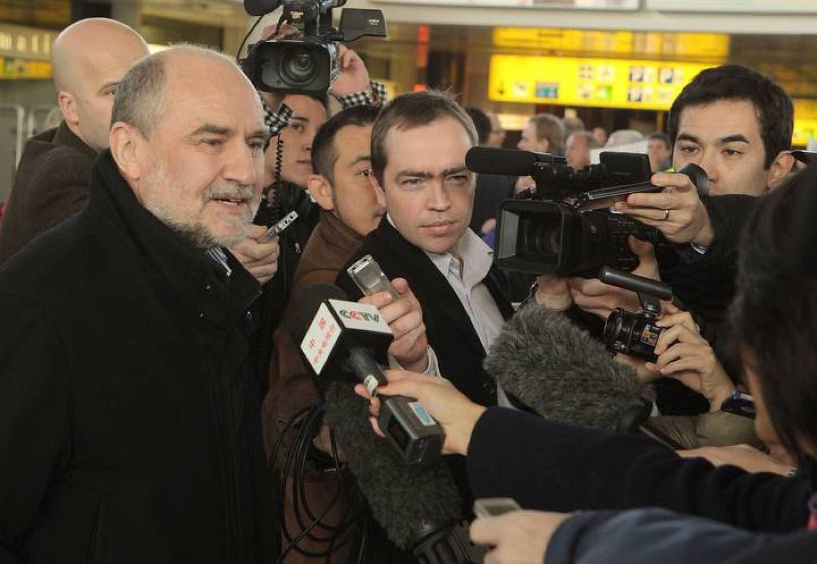 El jefe de los inspectores de la OIEA en Irán, Herman Nackaerts, a su llegada a Viena