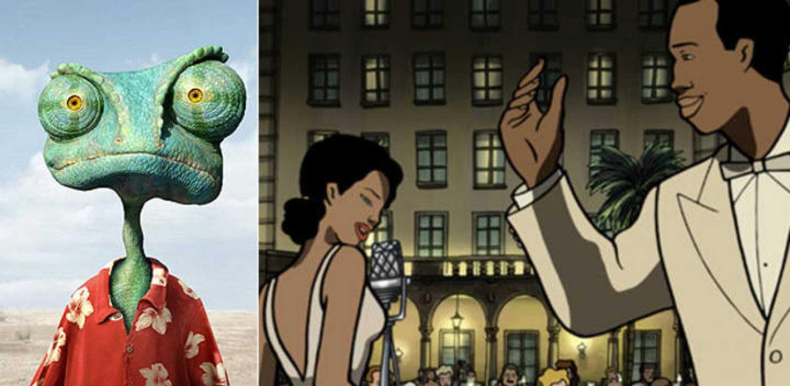 Fotogramas de 'Rango' y 'Chico y Rita'