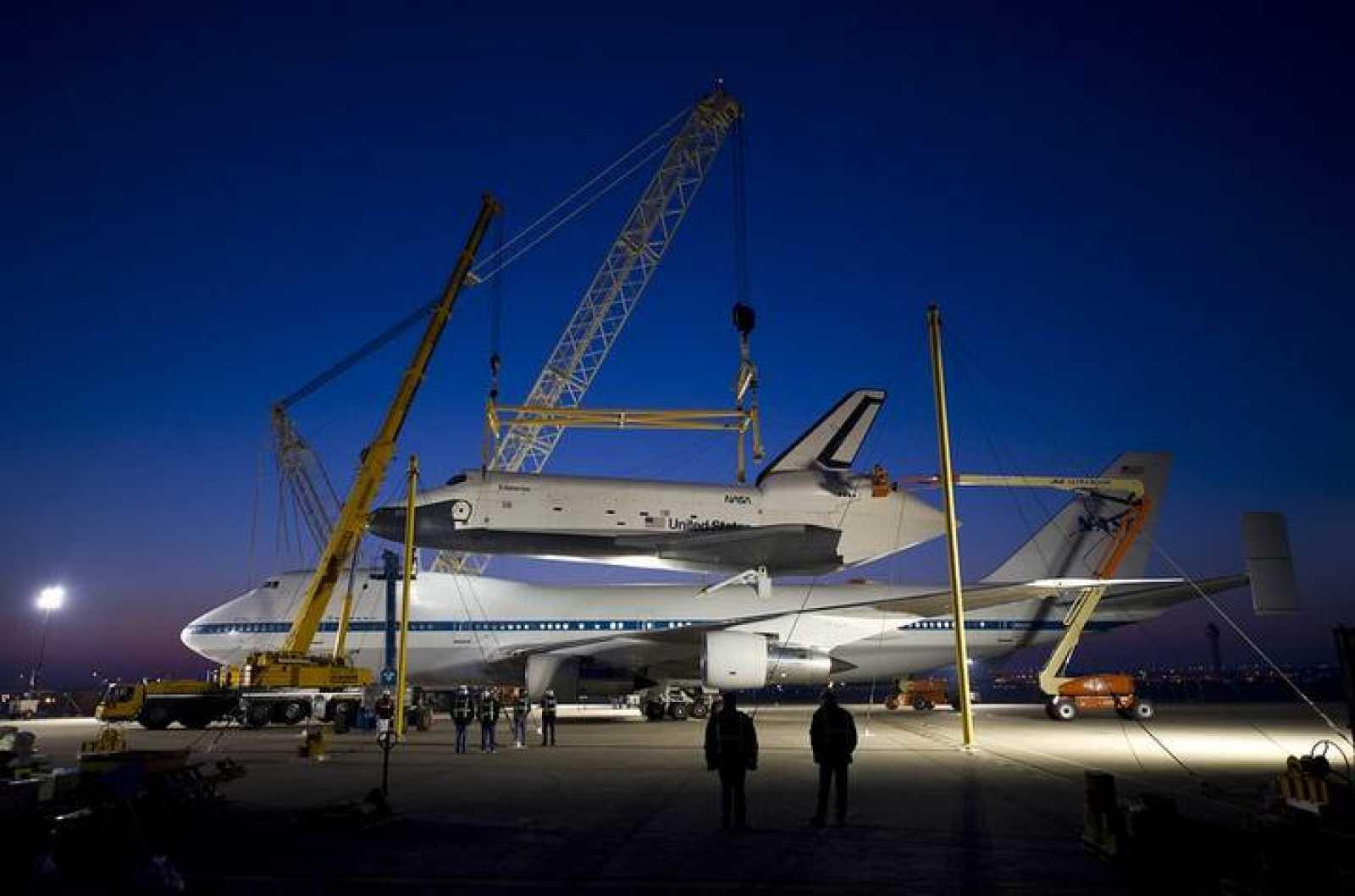 Será el último vuelo del Entreprise, a lomos de un Boeing 747 (jumbo) de la NASA
