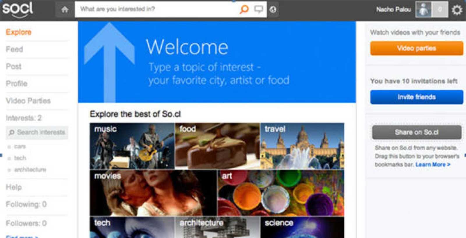 So.cl, el 'experimento' de Microsoft, funciona como un buscador de Internet con componentes sociales