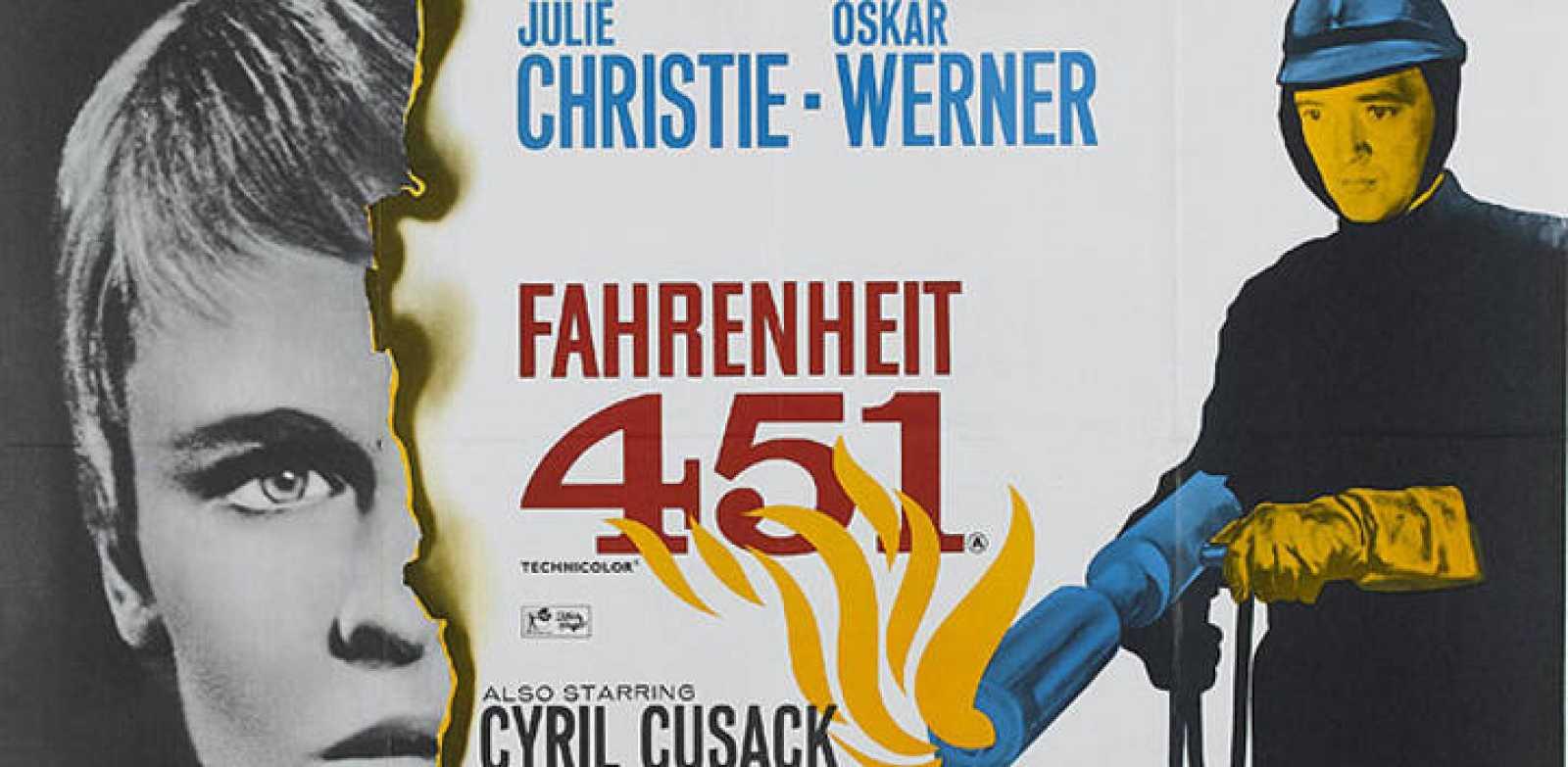 Fragmento del cartel de 'Farenheit 451', la adaptación de Truffaut del  libro de Ray Bradbury