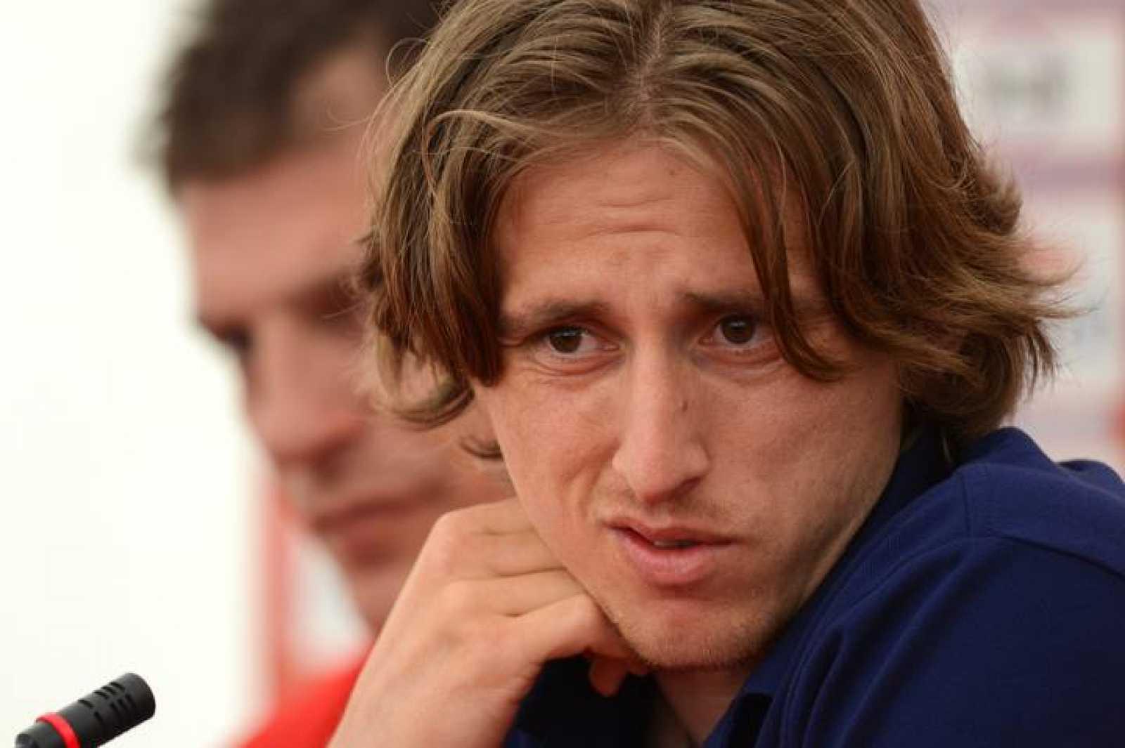 Modric, centrocampista de la selección de Croacia