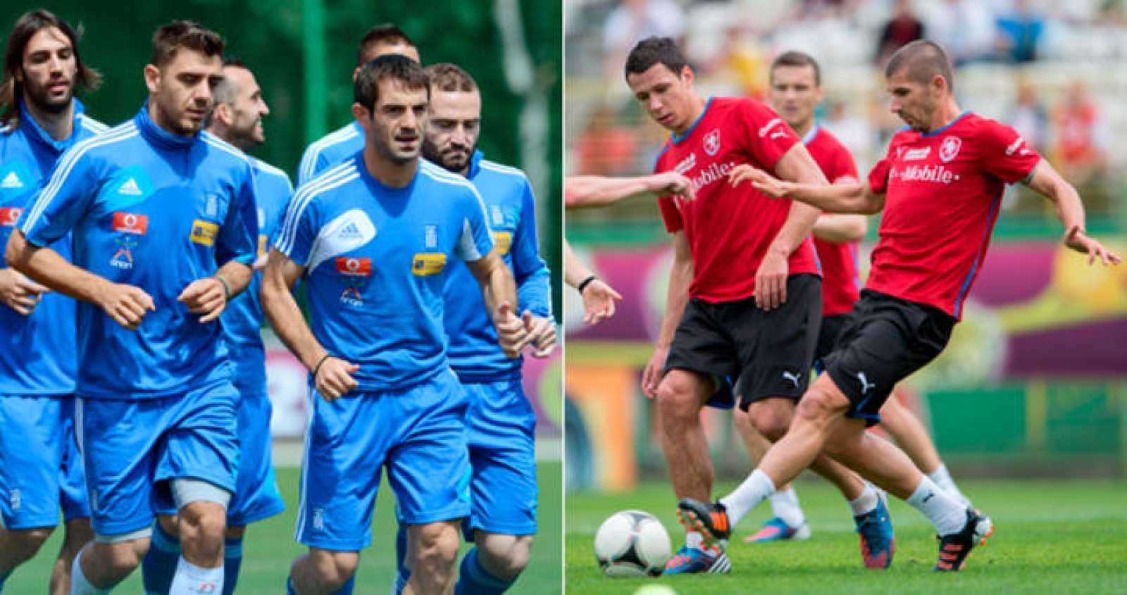 Grecia y República Checa se enfrentan en su segundo partido de la Eurocopa con la necesidad de ganar para seguir aspirando a la clasificación.