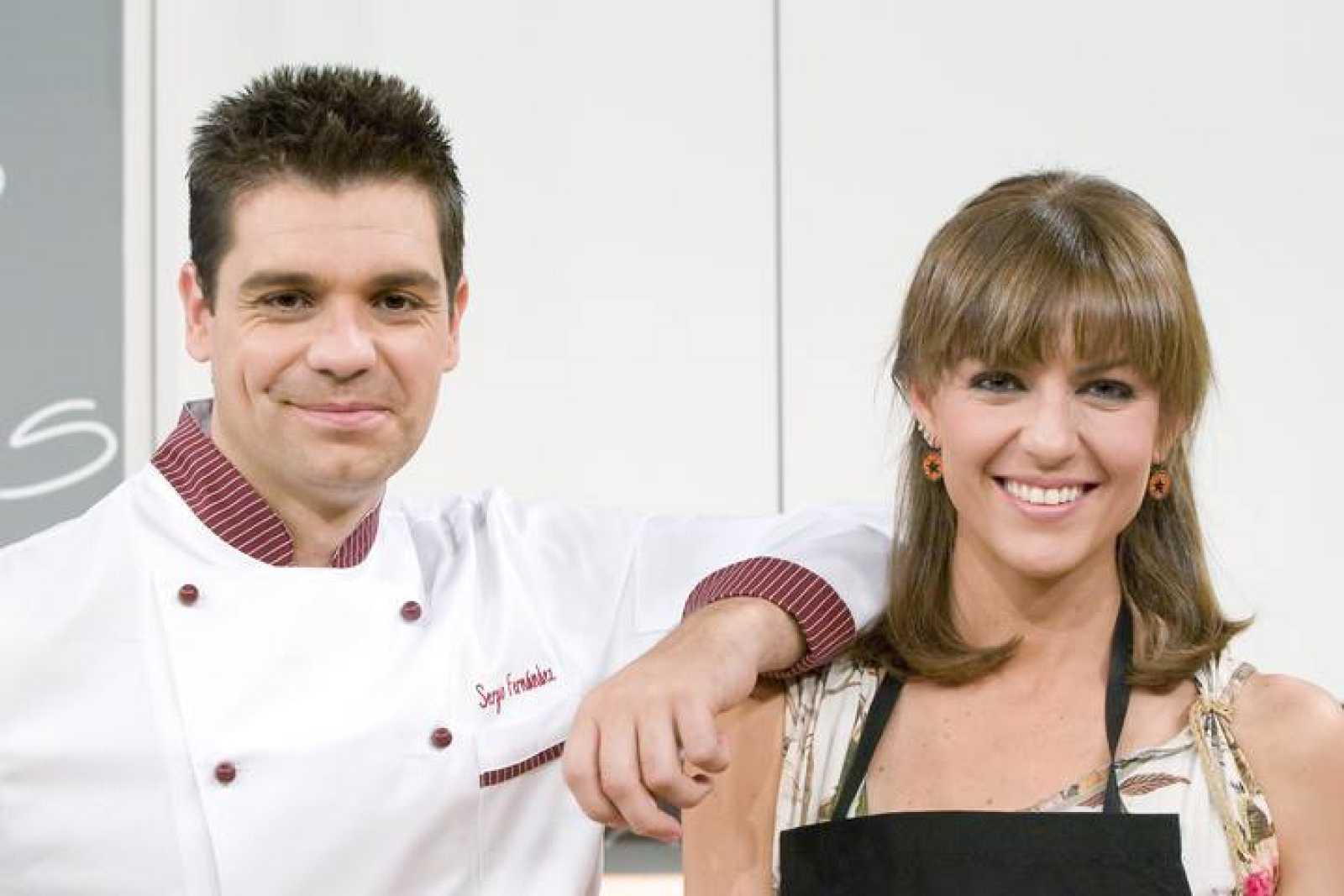 Sergio Fernández y Pepa Molina en el programa Cocina con Sergio
