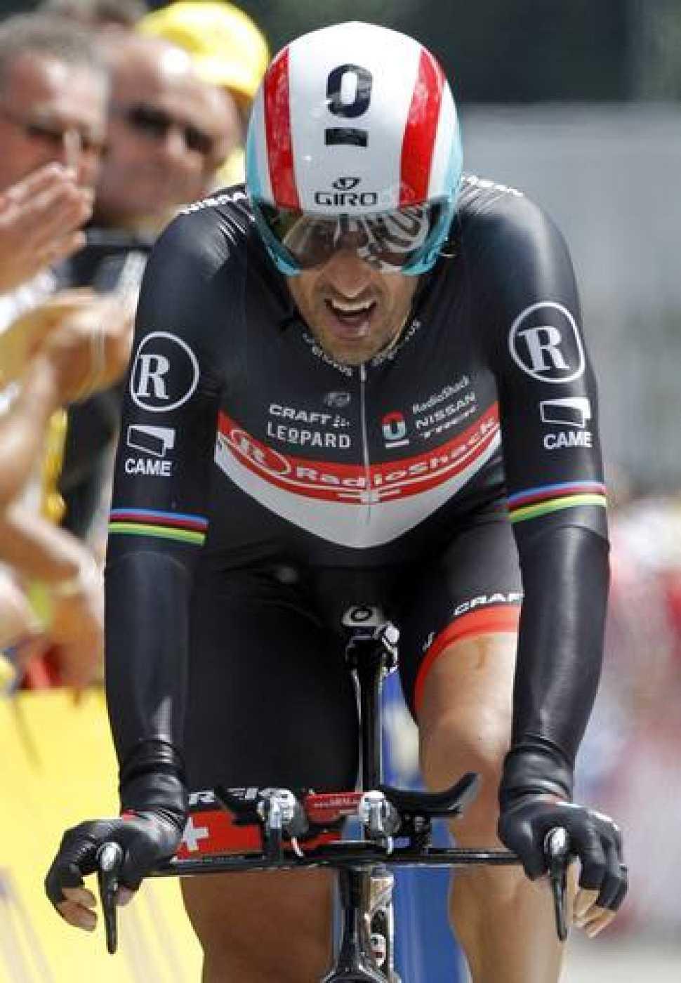 El ciclista suizo Fabián Cancellara durante una de las etapas del Tour de Francia 2012