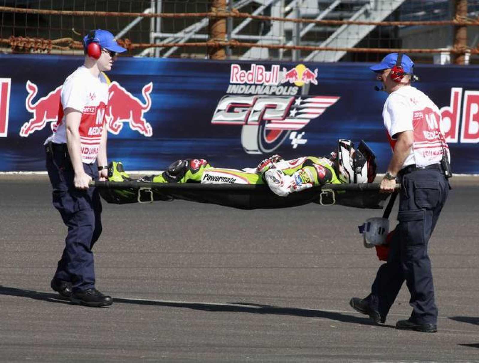 Héctor Barberá se lesionó en el circuito de Indianápolis por primera vez.