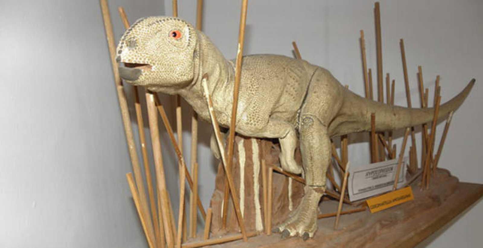 Reconstrucción del dinosaurio hallado en el yacimiento paleontológico de Galve (Teruel) y que vivió hace 130 millones de años