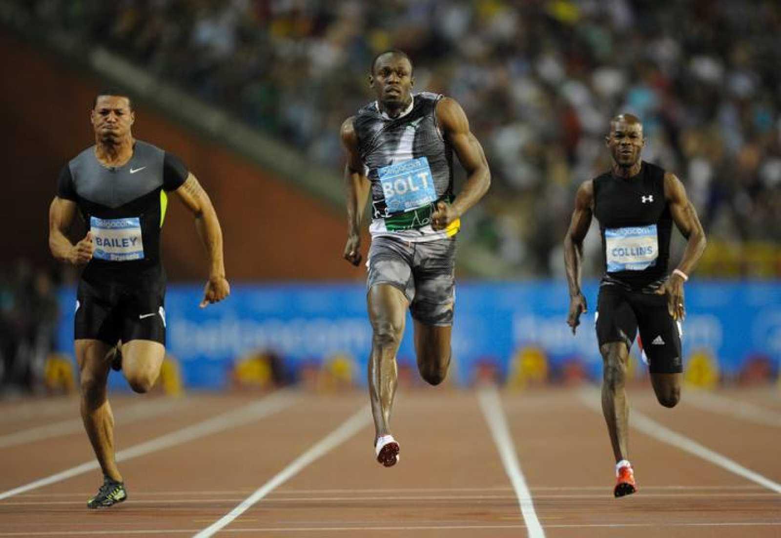 Usain Bolt compita en los 100m lisos en la reunión de la Diamond League en Bruselas, su última carrera en este año olímpico.