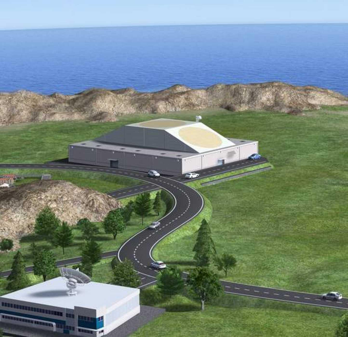 Recreación artística del nuevo radar para detectar basura espacial impulsado por la Agencia Espacial Europea