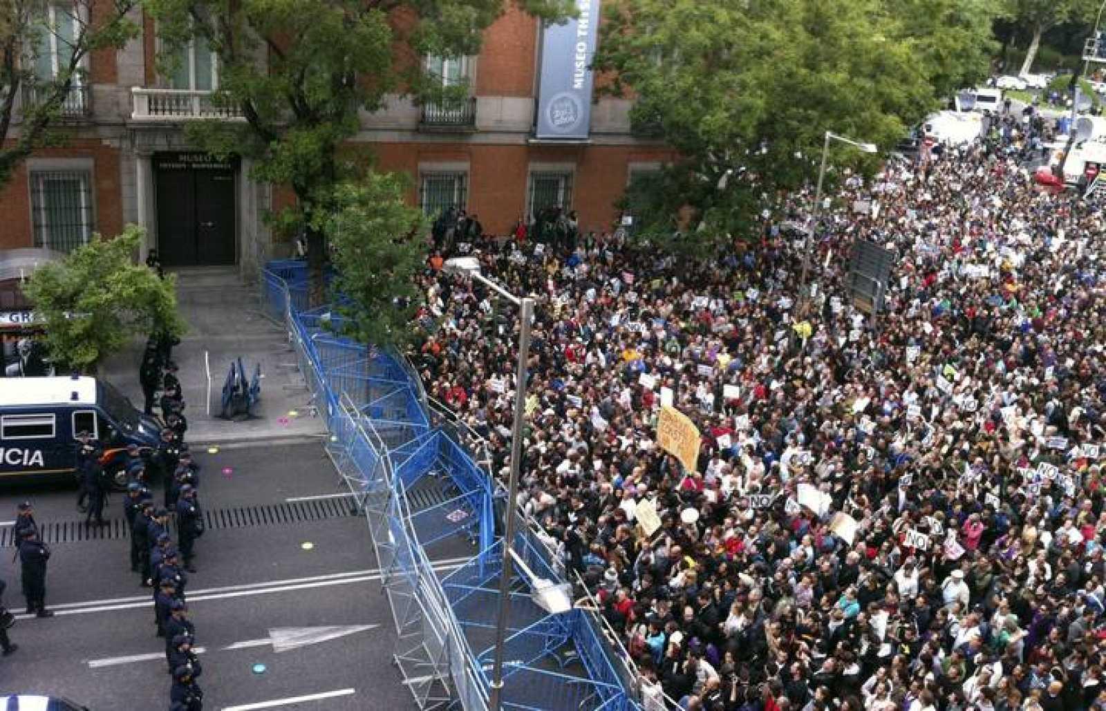 Imagen de la primera manifestación de 'Rodea el Congreso' el 25 de septiembre de 2012.