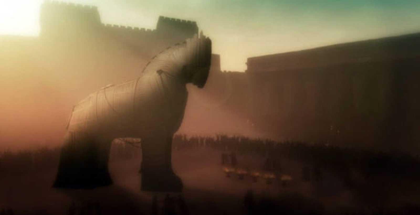 El caballo de Troya, fruto del ingenio de Ulises