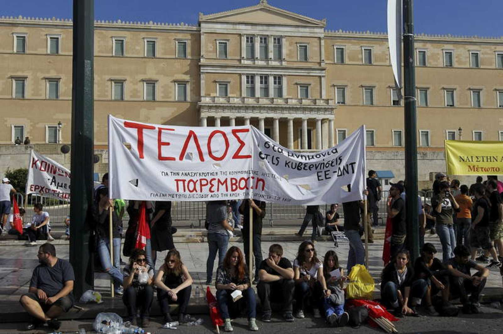 Seguimiento masivo de la huelga general de 48 horas en Grecia contra las nuevas medidas de austeridad